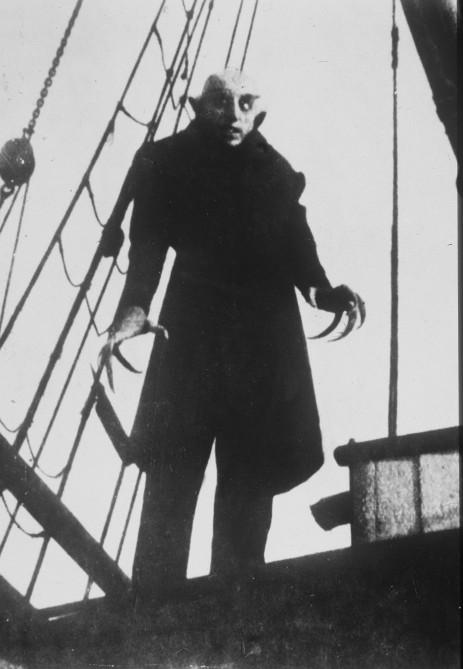 """Zum Themendienst-Bericht """"Gesellschaft/Freizeit/Dracula"""" von Gabriele Thiels vom 21. Juli: Der Gruselklassiker: Max Schreck als Vampir in Friedrich Murnaus Stummfilm """"Nosferatu"""". Honorarfreie Veröffentlichung nur für gms Themendienstbezieher."""