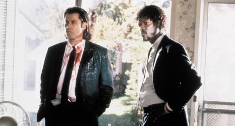 Bildnummer: 55158649  Datum: 24.09.1994  Copyright: imago/EntertainmentPictures 1994 - Pulp Fiction - Movie Set PICTURED: JOHN TRAVOLTA, SAMUEL L. JACKSON. FILM TITLE: PULP FICTION. DIRECTOR: Quentin Tarantino.  -  !ACHTUNG NUTZUNG NUR BEI FILMTITEL-NENNUNG! PUBLICATIONxINxGERxONLY People Entertainment Film kbdig 1994 quer  Bildnummer 55158649 Date 24 09 1994 Copyright Imago EntertainmentPictures 1994 Pulp Fiction Movie Set Pictured John Travolta Samuel l Jackson Film Title Pulp Fiction Director Quentin Tarantino Regard Use only at FILMTITEL ANSWER PUBLICATIONxINxGERxONLY Celebrities Entertainment Film Kbdig 1994 horizontal
